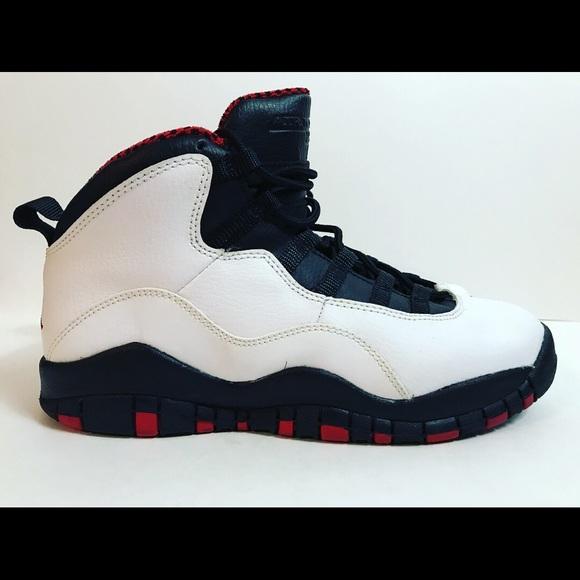 eac433391a0 Jordan Shoes | Nike Air 10 White Red Black Size 6y | Poshmark